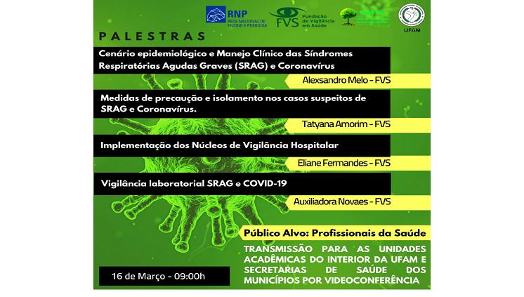 GMTS e FVS promovem Palestras sobre Coronavírus para profissionais do interior do Amazonas